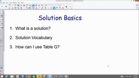 Thumbnail for entry Intro to Solutions