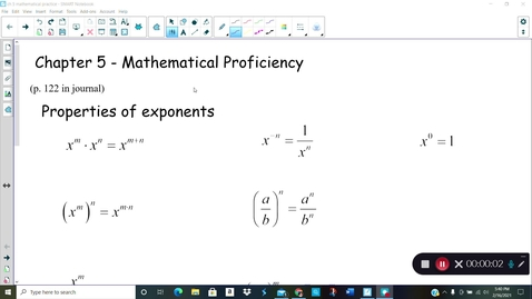 Thumbnail for entry Alg 2B  Ch 5 math proficiency