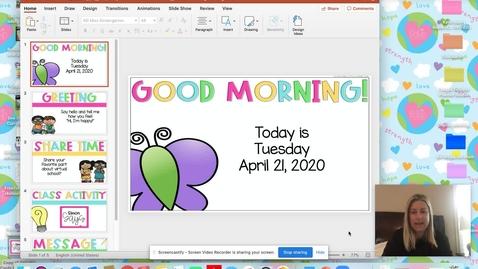 Thumbnail for entry Morning Meeting April 21