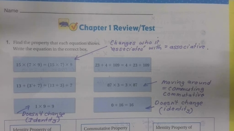 Thumbnail for entry Math Chapter 1 Review - First half - Friday September 18