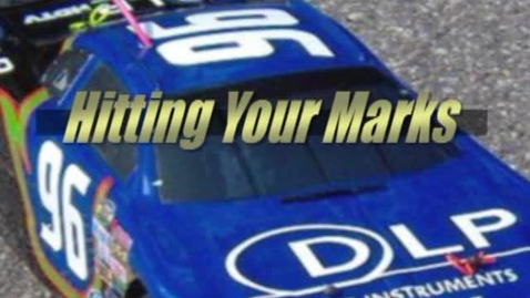 Thumbnail for entry Hitting Your Marks