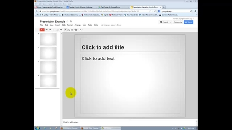 Thumbnail for entry GOOGLE = Presentation Layout