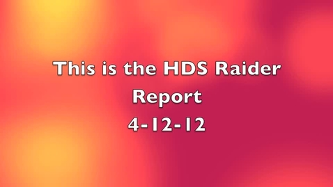Thumbnail for entry Raider Report 4-12-12