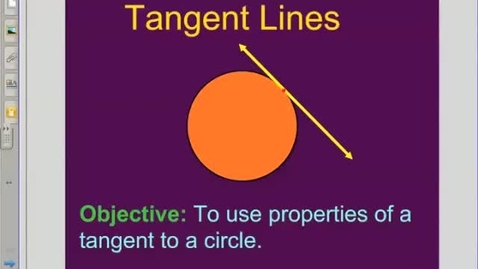 Thumbnail for entry Tangent Perpendicular to Radius Theorem