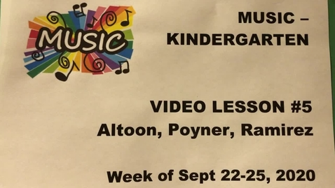 Thumbnail for entry Music Kinder #5