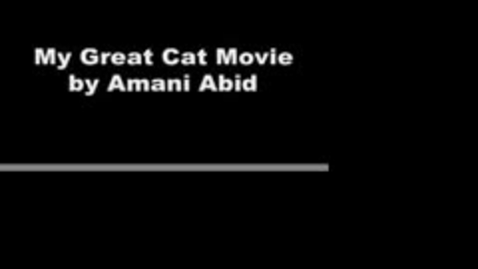 Thumbnail for entry My Great Cat Movie