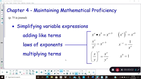 Thumbnail for entry Alg Ch 4 math proficiency
