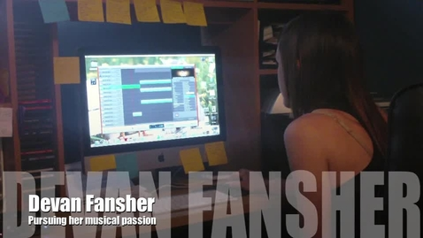 Thumbnail for entry Devan Fansher: Making music