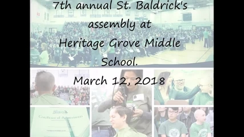 Thumbnail for entry 7th annual St. Baldrick's assembly, HG, 03.12.2018