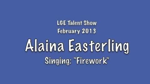 Thumbnail for entry Alaina Easterling