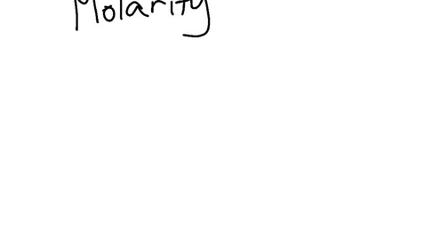 Thumbnail for entry Molarity