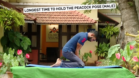 Thumbnail for entry Longest time to hold the peacock pose