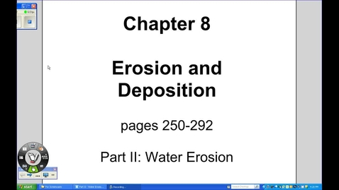 Thumbnail for entry Water Erosion - Erosion & Deposition, Part II