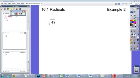 Thumbnail for entry 10.1 Radicals Example #2