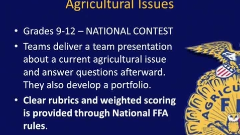 Thumbnail for entry Ag Issues CDE Overview - NY FFA