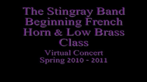 Thumbnail for entry Beginner Low Brass & French Horn