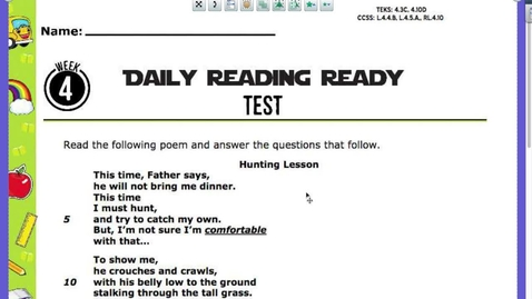 Thumbnail for entry Lion Poetry Test