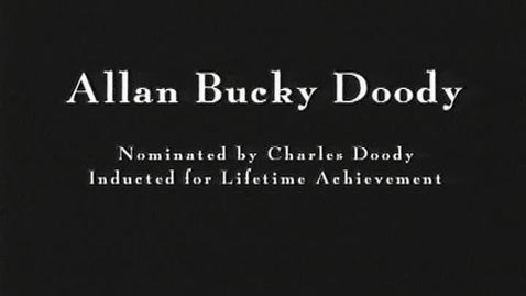 Thumbnail for entry Bucky Doddy  2004 Canton Hall of Fame