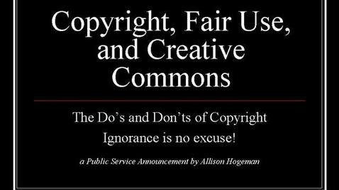 Thumbnail for entry Copyright PSA