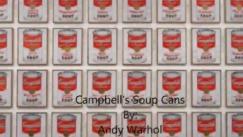 Thumbnail for entry Campbell's Soup Paintings by Andy Warhol Period 7