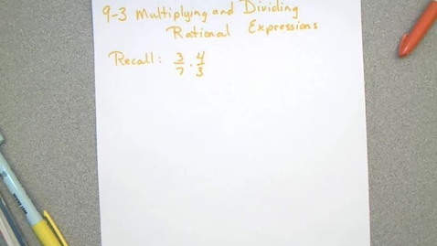 Thumbnail for entry Section 9-3 Lesson