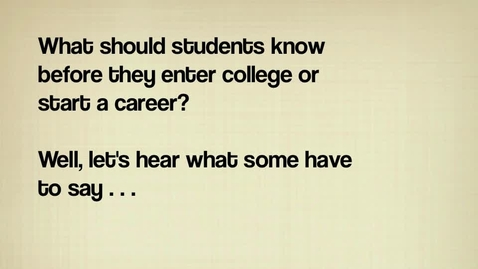 Thumbnail for entry CCR Students Talk About College