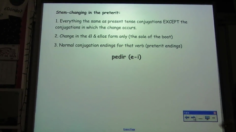 Thumbnail for entry Stem-changing in the Preterit Tense