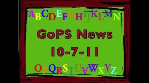 Thumbnail for entry GoPS News 10-7-11