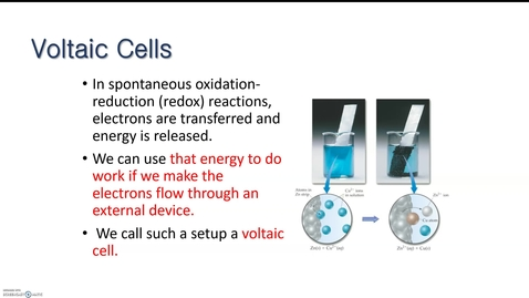 Thumbnail for entry RHS AP Chem Synchronous week Electrochemistry 2: Voltaic Cells