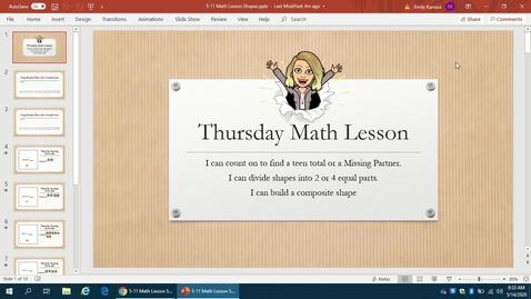 Thumbnail for entry Thursday Math Lesson 5-14: Building Composite Shapes