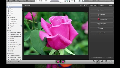 Thumbnail for entry iPhoto Lesson #2