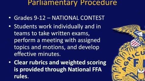 Thumbnail for entry NY FFA Parliamentary Procedure Contest