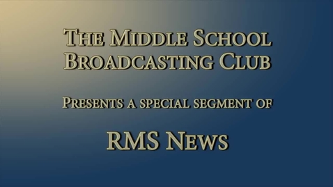 Thumbnail for entry Middle Schoolers Interview Head