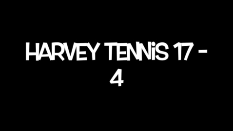 Thumbnail for entry Harvey Tennis 2015 Highlights