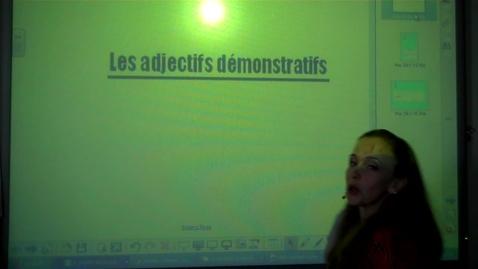 Thumbnail for entry Les adjectifs demonstratifs