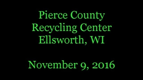 Thumbnail for entry Recycling in Pierce County Wisconsin