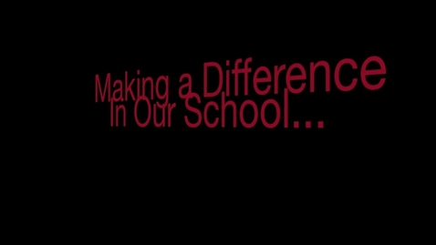 Thumbnail for entry Making a difference in bullying