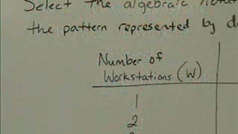 Thumbnail for entry Algebraic Notation