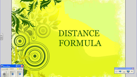 Thumbnail for entry Distance Formula
