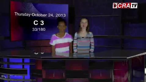 Thumbnail for entry CRA-TV Daily Broadcast - October 24, 2013