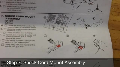 Thumbnail for entry Estes Wizard Steps 7-8: Shock Cord Assembly