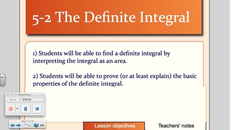 Thumbnail for entry 5-2 The Definite Integral