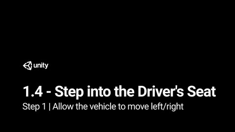 Thumbnail for entry Step 1 - Allow the vehicle to move left or right