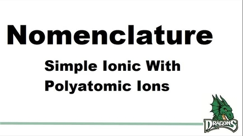 Thumbnail for entry Binary Ionic Compounds with Polyatomic