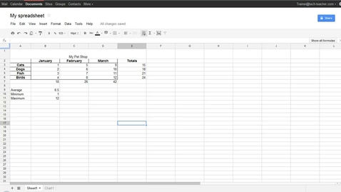 Thumbnail for entry Google® Spreadsheets Moving and Copying Data