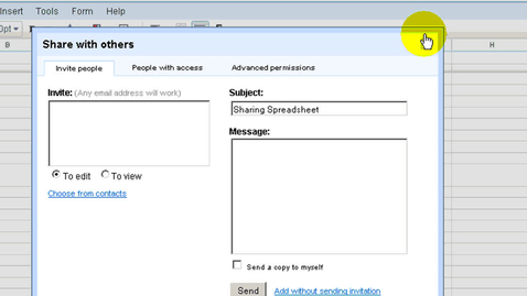 Thumbnail for entry Google Spreadsheets Sharing