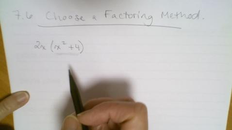 Thumbnail for entry Algebra I - More Factoring (7.6)