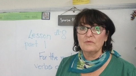 Thumbnail for entry Lesson 8 Part 1 Introduction to Verbs