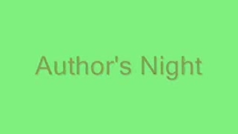 Thumbnail for entry Author Night