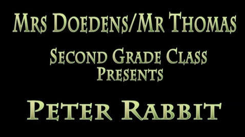 Thumbnail for entry Peter Rabbit 2015 Doedens/Thomas